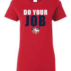doyourjob-red-tshirt-womens