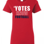 yotesknowfootball-red-tshirt-womens