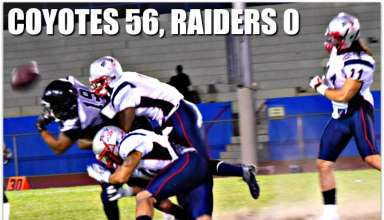 coyotes 56 raiders 0